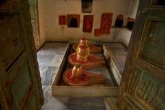 Hindu Shiva Lingam. A view of traditional symbol or symbols (lingam) used in the Hindu worship of the god Shiva Royalty Free Stock Photography