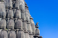 Hindu Shiva temple spire carvings Royalty Free Stock Image