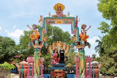 Hindu shrine at island temple, Sri Lanka Stock Photo