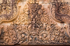 Hindu Sky God Indra carving Stock Images