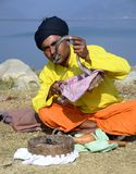 Hindu snake charmer Stock Photography