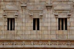 HINDU SRIRANGAM TEMPLE STONE WALL Royalty Free Stock Photography