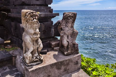 Hindu statue near enter to a sacred place. Bali island. Royalty Free Stock Image