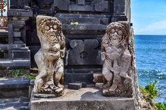 Hindu statue near enter to a sacred place. Bali island. Royalty Free Stock Images