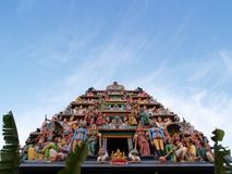 Hindu Statue Temple. In Singapore Royalty Free Stock Image