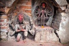 Hindu statues in Kathmandu Royalty Free Stock Photos