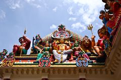 Hindu Statutes in Singapore Royalty Free Stock Photos