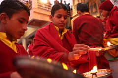 Hindu students Stock Photos