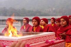 Hindu students in Rishikesh Royalty Free Stock Photo