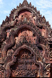Hindu style temple carvings Stock Image