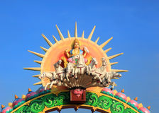 Hindu sun god Surya. Statue of Hindu sun god Surya royalty free stock photography