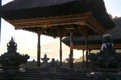 Hindu tanah lot tempel at the coast of island of bali in indones royalty free stock photography