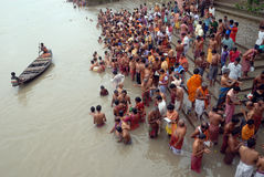 Hindu Tarpan rituals Stock Image