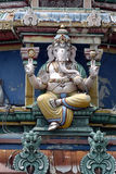 Hindu temple 01. A Hindu God statue, Ganesh, at a temple in Singapore Royalty Free Stock Photo