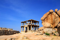 Hindu temple. Temple on the sacred Hemakuta hill, Hampi, Karnataka state, India Royalty Free Stock Photography