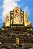 Hindu temple. Roof of the Hindu temple Royalty Free Stock Images