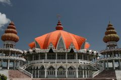Hindu Temple. In Paramaribo, Suriname, called the Arya Dewaker temple Stock Images
