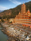 Hindu temple. On Ganges river Taken in Rishikesh - north india royalty free stock photos