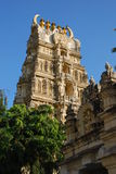Hindu temple. Tower of Hindu temple in Mysore, India Royalty Free Stock Photos