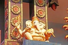 Hindu Temple. Architectural element. Ganesha Stock Photo