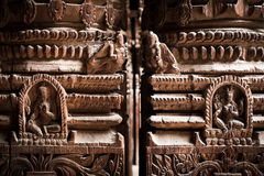 Hindu temple architecture detail.. Nepal Royalty Free Stock Photography