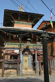 Hindu temple in Bandipur, Nepal Stock Image