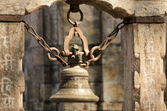 Hindu temple bell Royalty Free Stock Image