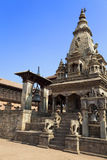 Hindu Temple at Bhaktapur Durbar Square, Nepal Stock Photos