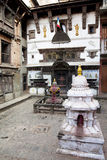 Hindu Temple at Bhaktapur Durbar Square, Nepal Stock Photography