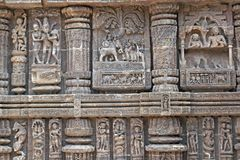 Hindu Temple Carvings Royalty Free Stock Photo