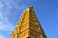 Hindu Temple at Chamundi Hills in Mysore, India Royalty Free Stock Photography