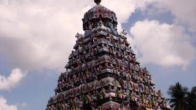 Hindu Temple at Chennai, India. Hindu Temple at Chennai, blue sky background stock video
