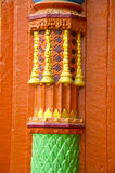Hindu temple column background Stock Images