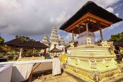 Hindu temple complex houses with ghosts,of Nusa Penida, Indonesia Royalty Free Stock Images