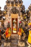 Hindu temple complex houses with ghosts,of Nusa Penida, Indonesia Stock Photography
