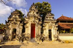Hindu temple complex houses with ghosts,of Nusa Penida, Indonesia Royalty Free Stock Photo