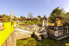 Hindu temple complex houses with ghosts,of Nusa Penida, Indonesia Royalty Free Stock Image