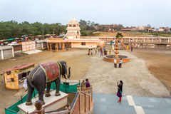 Hindu temple courtyard Stock Photography