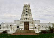 Hindu Temple Cultural Center. This is a Spring picture on an overcast day of the iconic Hindu Temple Cultural Center located in Madrid, Iowa. This traditional stock photography