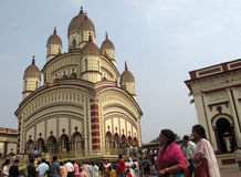 Hindu temple in Dakshineswar royalty free stock photos