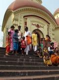 Hindu temple in Dakshineswar Royalty Free Stock Photo