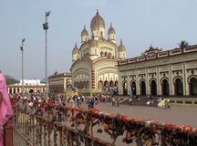 Hindu temple in Dakshineswar Royalty Free Stock Image