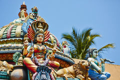 Hindu temple. Decorations of the Hindu temple in Colombo, Sri Lanka Royalty Free Stock Images