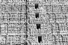 Hindu temple facade Royalty Free Stock Photography