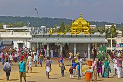 At the Hindu temple Royalty Free Stock Photography