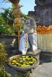 Hindu Temple god. Fierce Hindu Temple God in Bali Indonesia stock photo