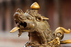 Hindu Temple Guardian Lion Royalty Free Stock Images