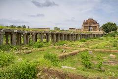 Hindu temple, Hampi, Karnataka state, India Stock Photo