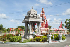 Hindu temple and Hanuman statue in Trinidad Stock Photos