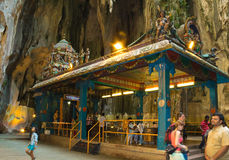 Hindu temple inside the Batu Caves in Kuala Lumpur, Malaysia. Batu caves are one of the most popular attraction of Kuala Lumpur and important a place of Stock Image